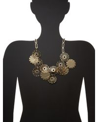 Lulu Frost | Metallic Daisy Statement Necklace | Lyst