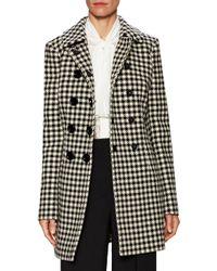 Dolce & Gabbana Black Houndstooth Coat