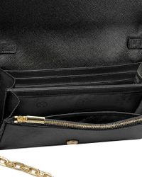 Tory Burch - Black Robinson Leather Chain Wallet Crossbody - Lyst