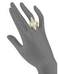 Freida Rothman - Metallic Pavé Two-tone Diamond-shaped Ring - Lyst