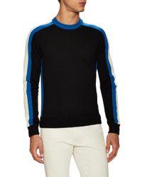 Prada - Black Wool Ribbed Sweater for Men - Lyst