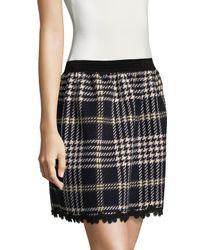 Anna Sui - Black Tartan Mini Skirt - Lyst