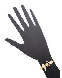 Chan Luu - White Base Metal Adjustable Bracelet With Semi Precious Stones - Lyst