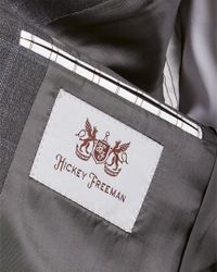 Hickey Freeman - Gray 2pc Milburn Ii Wool Suit With Flat Pant for Men - Lyst
