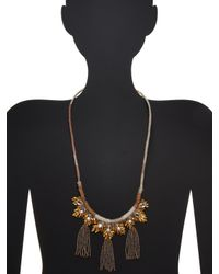 Deepa Gurnani | Metallic Karly Statement Necklace | Lyst