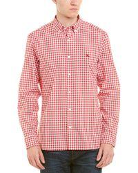 Burberry - Red Gingham Woven Shirt for Men - Lyst