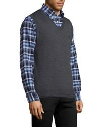Brooks Brothers   Gray Tipped Merino Wool Vest for Men   Lyst