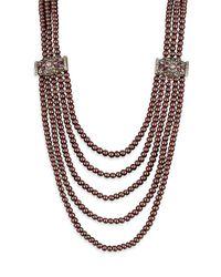 Heidi Daus - Multicolor Aubergine Beaded Multi-strand Necklace - Lyst