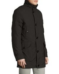 Allegri - Gray Military Canvas Fur Lined Coat for Men - Lyst