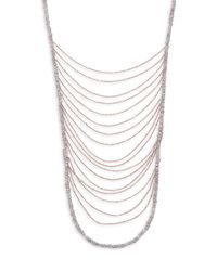 Shoshanna - Metallic Waterfall Layered Necklace - Lyst