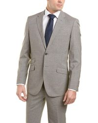 English Laundry Gray 2pc Wool Suit With Flat Front Pant for men