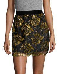 Anna Sui - Multicolor Metallic Lace Mini Skirt - Lyst