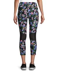 CALVIN KLEIN 205W39NYC - Black Floral Stretch Leggings - Lyst