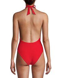 Rachel Roy - One-piece Gathered Swimsuit - Lyst