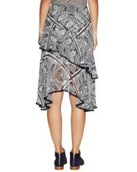 Marabelle - Multicolor Print Asymmetrical Tassel Trim Skirt - Lyst