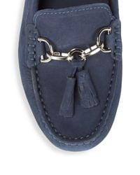 Saks Fifth Avenue | Blue Leather Tassel Bit Drivers | Lyst