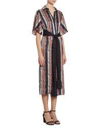 Cinq À Sept - Multicolor Carmine Striped Shirtdress - Lyst