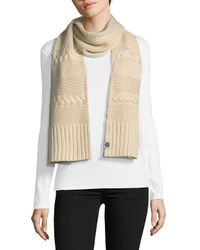 Ugg - White Knit Cable Scarf - Lyst