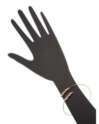 Jacquie Aiche Fine - Metallic 14k Rose Gold & Diamond Double Leaves Wrap Arm Band - Lyst