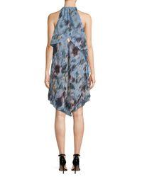 RACHEL Rachel Roy - Blue Printed Scarf Dress - Lyst