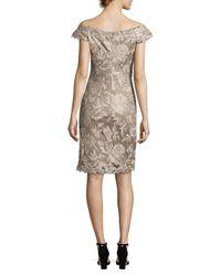 Tadashi Shoji - Natural Floral Embroidered Dress - Lyst