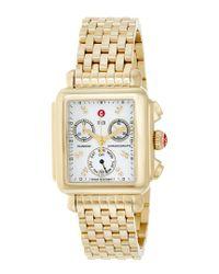 Michele - Metallic Women's Signature Deco Diamond Watch - Lyst