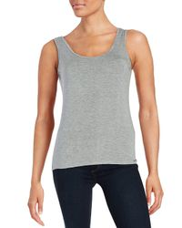 CALVIN KLEIN 205W39NYC - Natural Roundneck Knit Tank - Lyst