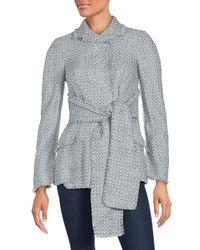 Proenza Schouler | Gray Waist Tie Sweater Jacket | Lyst