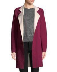 Akris - Purple Solid Silk Coat - Lyst