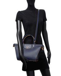 Longchamp - Blue Le Pliage Heritage Medium Leather Tote - Lyst