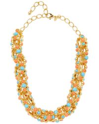 Kenneth Jay Lane - Multicolor Turquoise & Coral Statement Necklace - Lyst