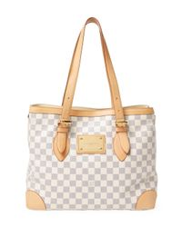 Louis Vuitton - White Vintage Damier Azur Hampstead Mm Bag - Lyst