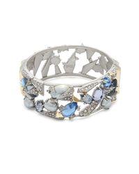 Alexis Bittar - Metallic Multi-crystal Bangle Bracelet - Lyst