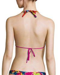 Basta Surf - Multicolor Straddie Reversible Halter Bikini Top - Lyst