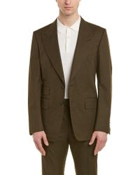 Tom Ford Green Shelton 2pc Suit With Flat Pant for men