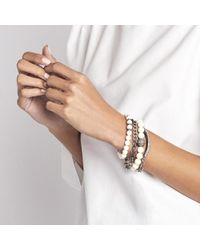 Sheryl Lowe - Multicolor Small Bone Pave Bracelet - Lyst