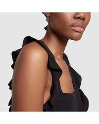 Azlee - Multicolor Emerald Baguette Earrings - Lyst