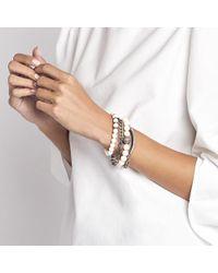 Sheryl Lowe - Metallic Bone Pave Wrap Bracelet - Lyst