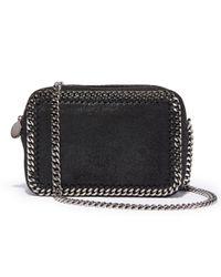 Stella McCartney - Black Falabella Crossbody Clutch Handbag - Lyst