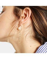 Loren Stewart - Metallic Pearl Orbit Drop Earrings - Lyst
