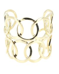 Philippe Audibert | Metallic Double Colombus Gold Cuff Bracelet | Lyst
