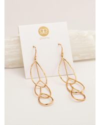 Gorjana & Griffin - Metallic Interlocking Tear Drop Earrings - Lyst