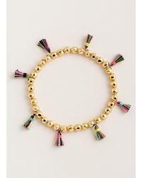 Gorjana & Griffin - Metallic Havana Tassel Bracelet - Lyst