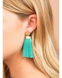 Gorjana & Griffin - Metallic Havana Circle Tassel Earrings - Lyst