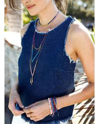 Gorjana & Griffin | Metallic Power Gemstone Lapis Necklace For Wisdom | Lyst