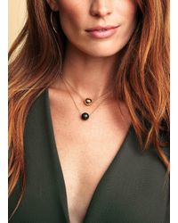 Gorjana & Griffin - Metallic Power Gemstone Black Onyx Bead Adjustable Necklace For Protection - Lyst