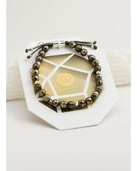 Gorjana & Griffin - Metallic Power Gemstone Pyrite Beaded Bracelet For Strength - Lyst