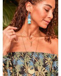 Gorjana & Griffin - Metallic Cayne Crescent Charm Adjustable Necklace - Lyst