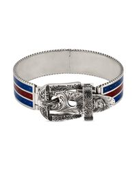 Gucci - Metallic Garden Bracelet In Silver for Men - Lyst