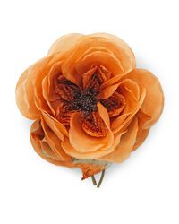 Gucci - Orange Oversize Flower Brooch - Lyst